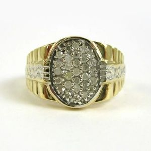 Other - Men's 10K Solid Gold Diamond Ring
